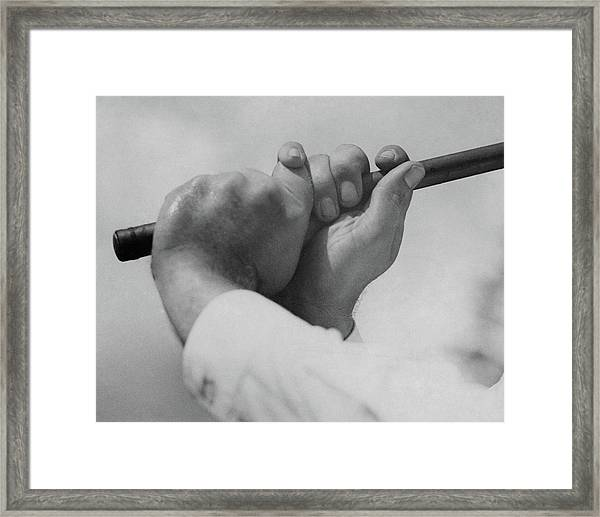Bobby Jones Holding A Golf Club Framed Print