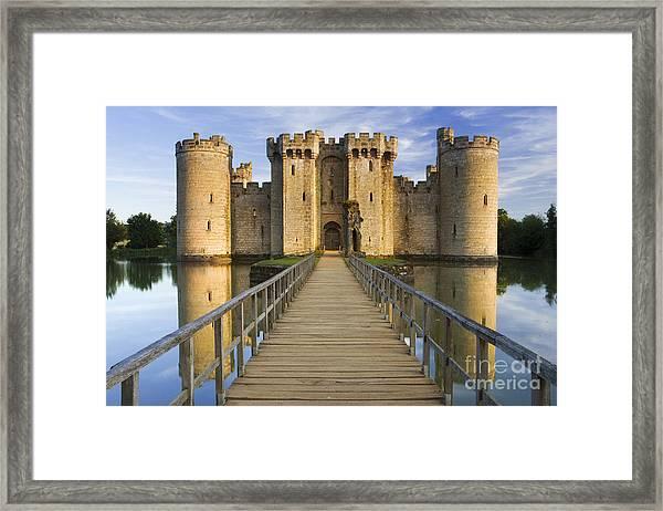 Bodiam Castle Framed Print by Derek Croucher