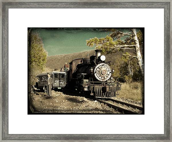 Bodie And Benton Road Crossing Framed Print