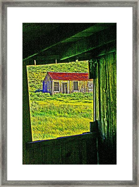 Bodie Ca From My Window Framed Print