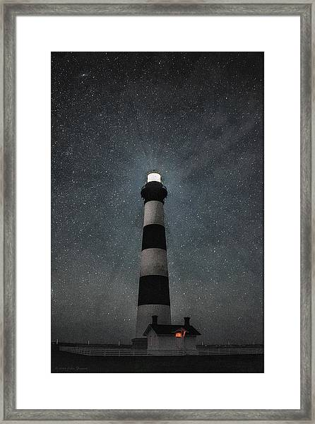 Bodie Island Light Midnight Framed Print