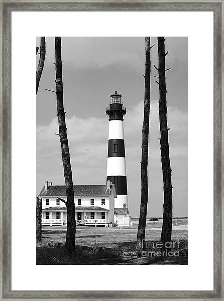 Bodie Island Lighthouse In The Outer Banks Framed Print