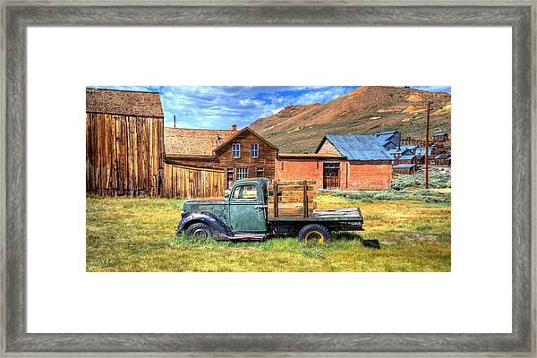 Bodie Truck Framed Print