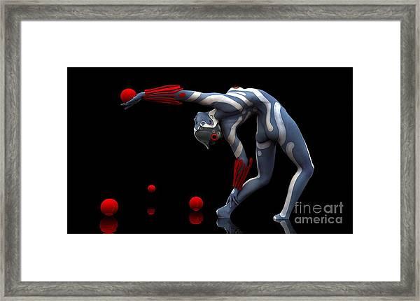 Framed Print featuring the digital art Body In Motion by Sandra Bauser Digital Art