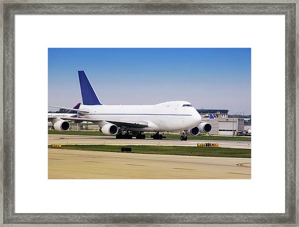 Boeing 747 Cargo Airplane Framed Print