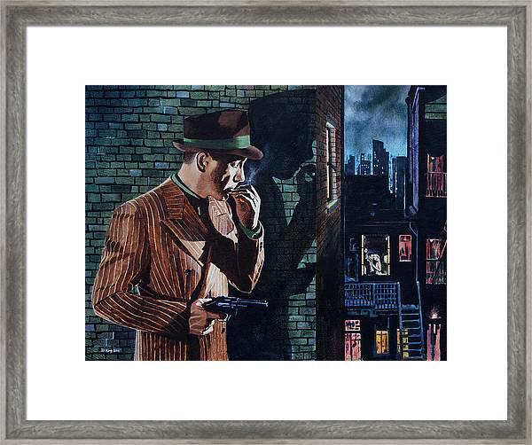 Bogart Is Waiting Framed Print by Jo King