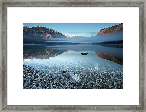 Bohinj's Tranquility Framed Print by
