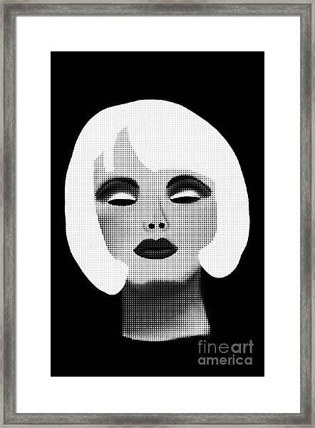 Bold Blonde Beauty Framed Print