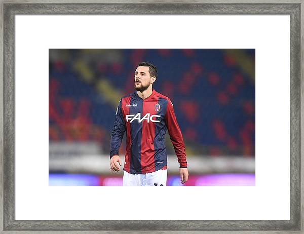 Bologna Fc V Atalanta Bc - Serie A Framed Print by Mario Carlini / Iguana Press