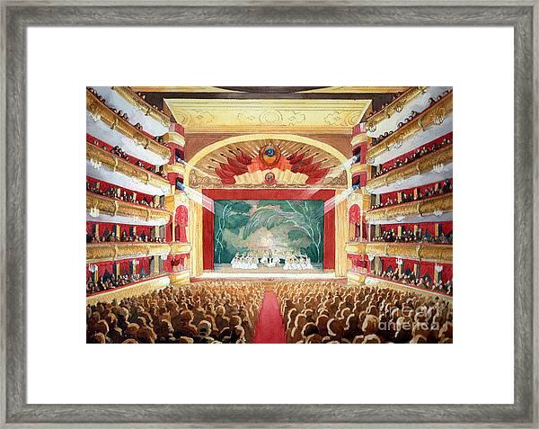 Bolshoi Ballet Framed Print
