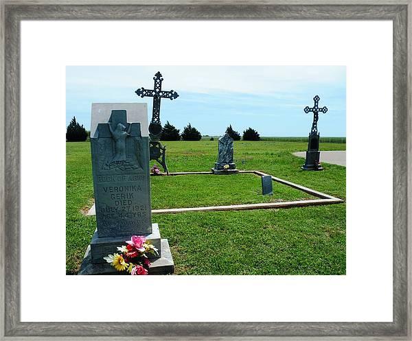 Bomarton Catholic Cemetery 7 Framed Print