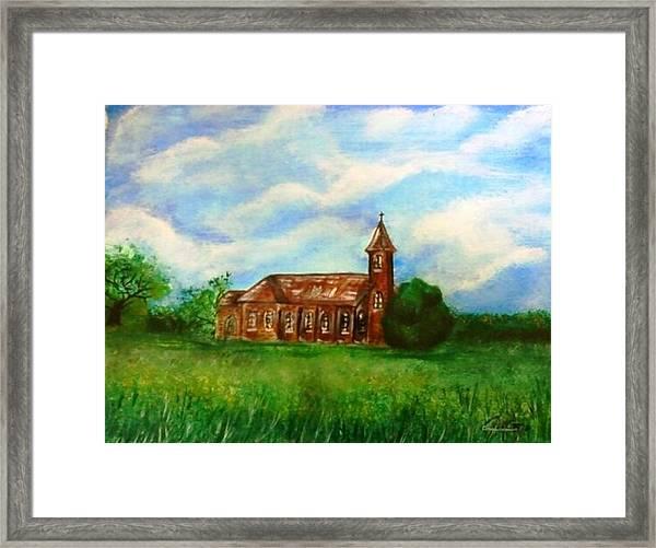 Bomarton Church Framed Print