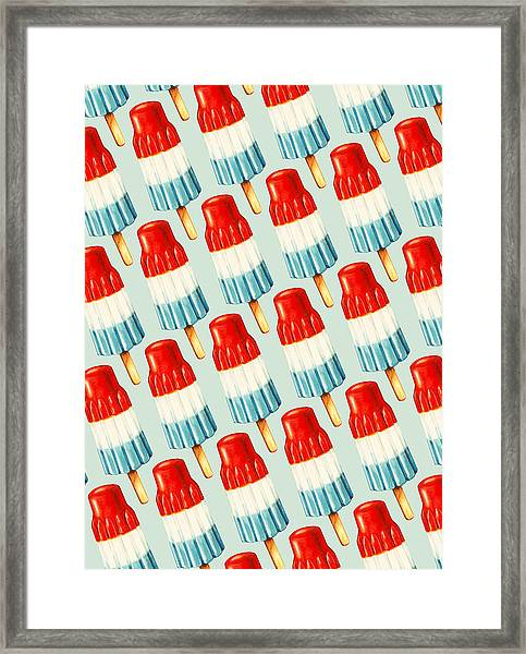 Bomb Pop Pattern Framed Print
