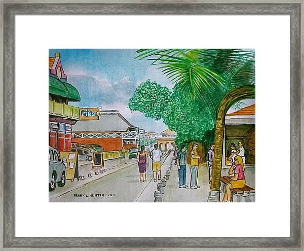 Bonaire Street Framed Print