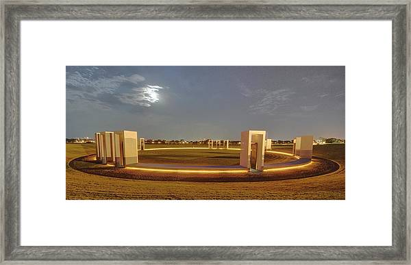 Bonfire Memorial Framed Print