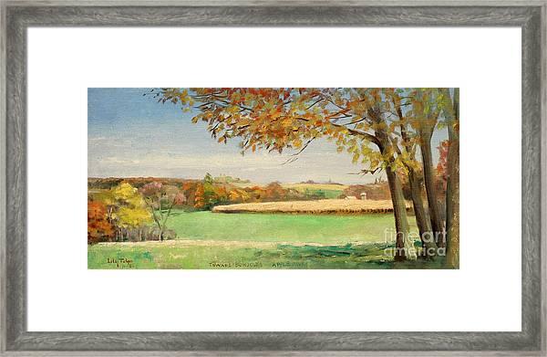 Bonjour Lands In Apple River Jo Daviess County Framed Print