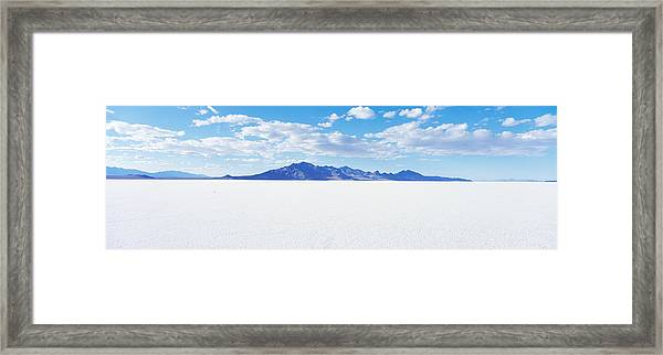 Bonneville Salt Flats, Utah, Usa Framed Print