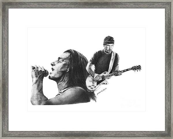 Bono And The Edge Framed Print