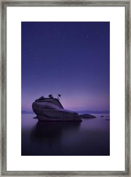 Bonsai Island Framed Print