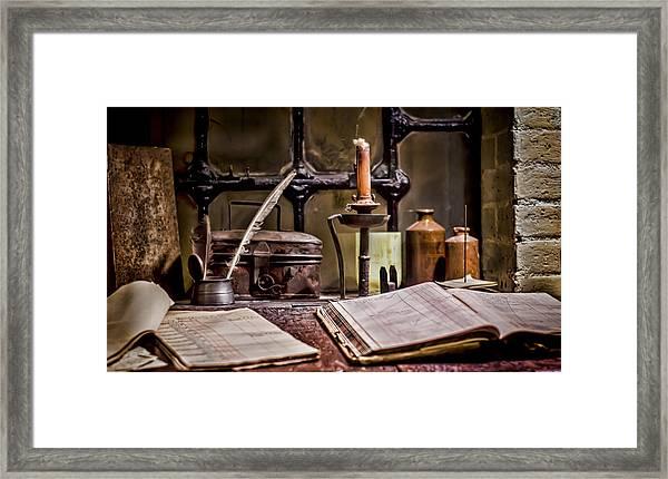 Book Keeper Framed Print