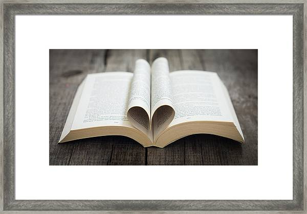 Book With Heart Framed Print