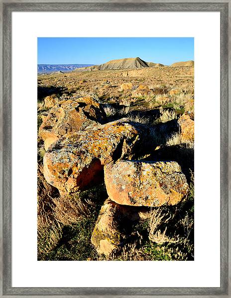 Bookcliffs 138 Framed Print by Ray Mathis