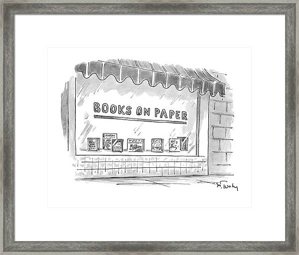 'books On Paper' Framed Print