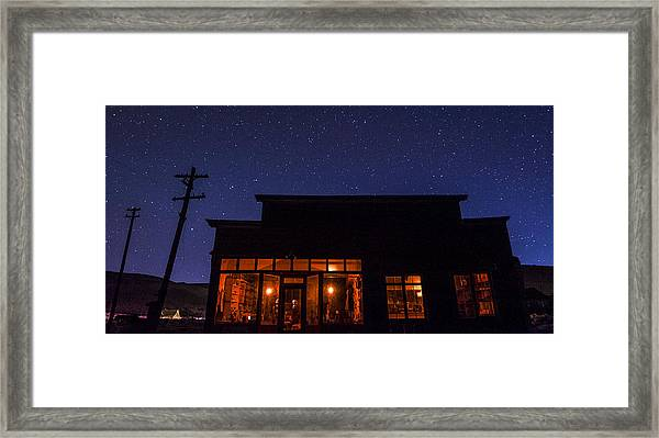 Boone Store And Warehouse Framed Print