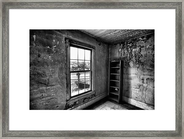 Boo's Room - Black And White Framed Print