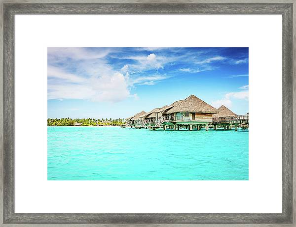 Bora-bora Luxury Dream Holiday Framed Print