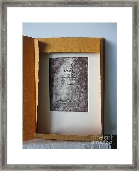 Borges Ou La Citation Necessaire Framed Print