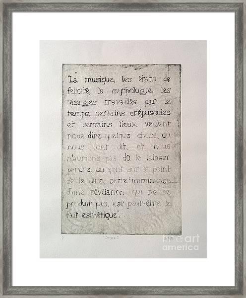 Borges 6 Framed Print