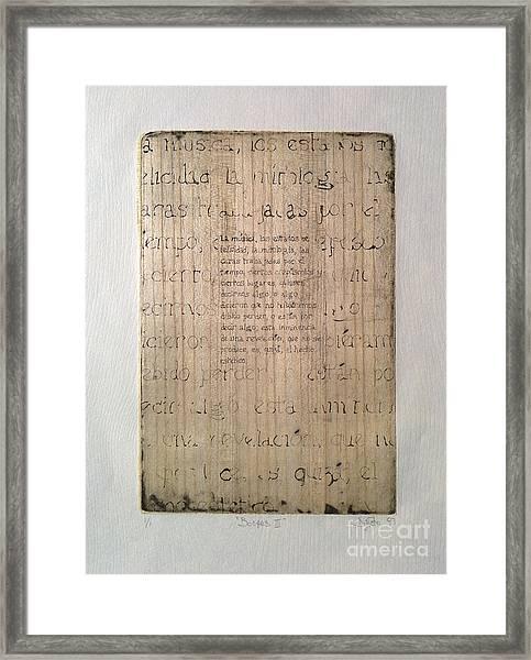 Borges 4 Framed Print