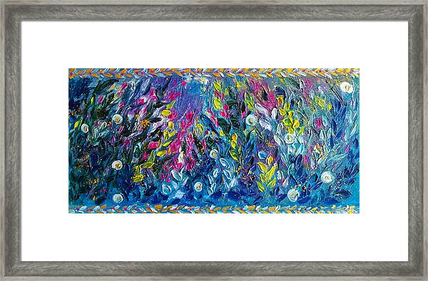 Born From Chaos Abstract Floral Art Framed Print