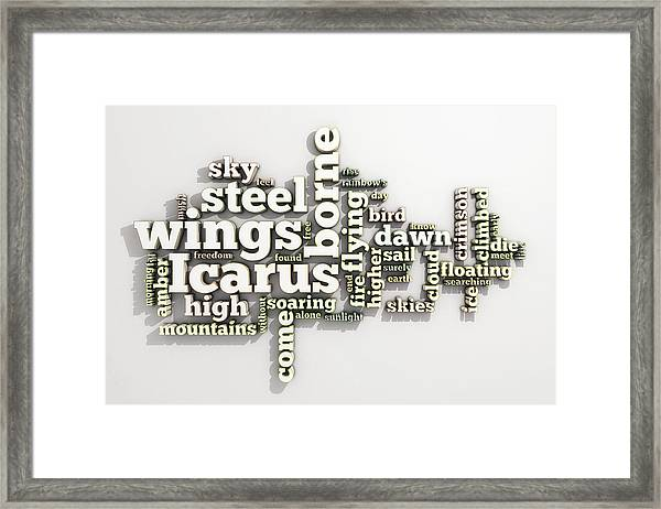 Borne On Wings Of Steel Framed Print