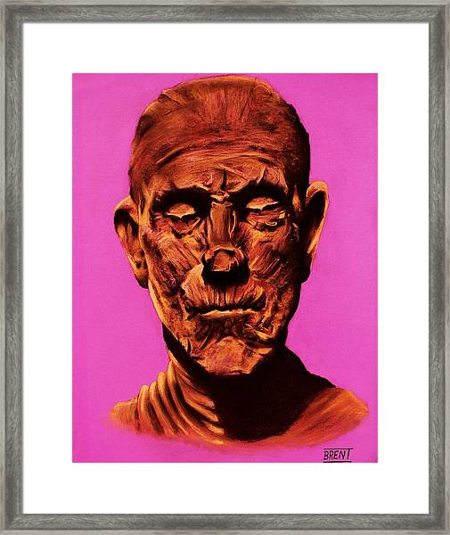 Borris 'the Mummy' Karloff Framed Print