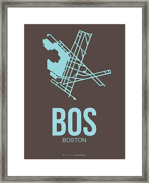 Bos Boston Airport Poster 2 Framed Print