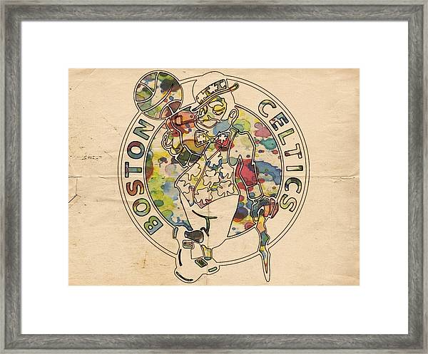 Boston Celtics Logo Vintage Framed Print