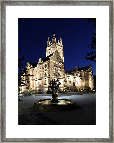Boston College Gasson Hall Framed Print by Juergen Roth