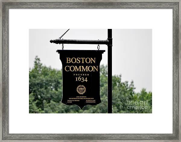 Boston Common Ma Framed Print