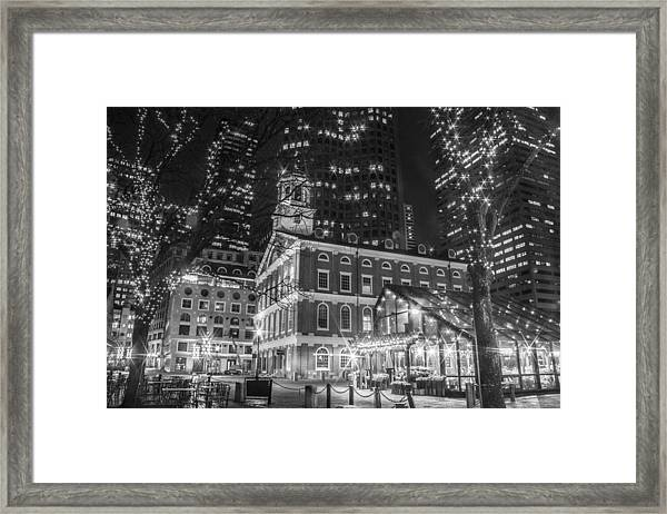 Boston Faneuil Hall  Framed Print