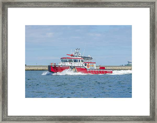 Boston Fire Marine 1 Framed Print