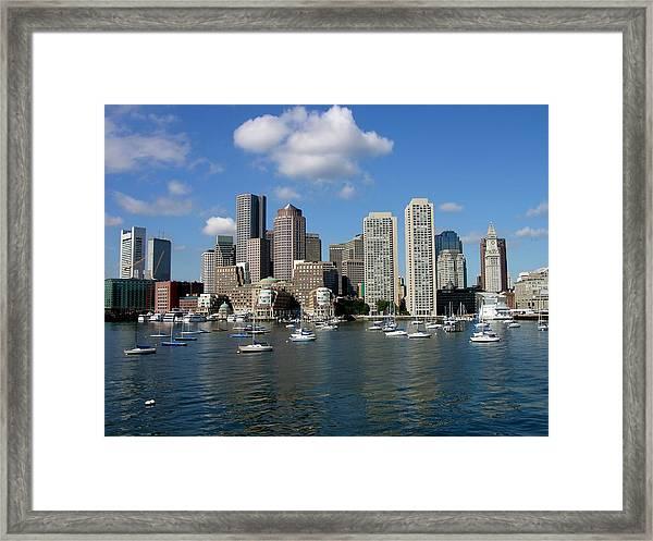 Boston Habor Skyline Framed Print