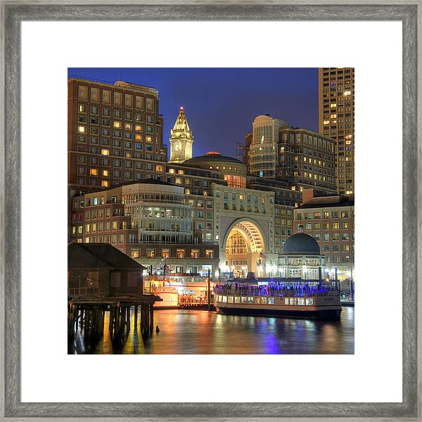 Boston Harbor Party Framed Print