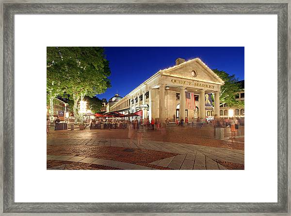 Boston Quincy Market Near Faneuil Hall Framed Print