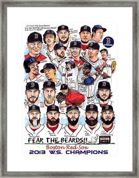 Boston Red Sox Ws Champions Framed Print
