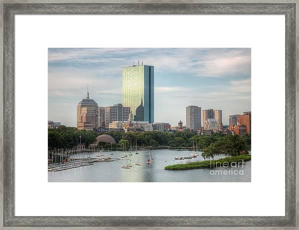 Boston Skyline I Framed Print