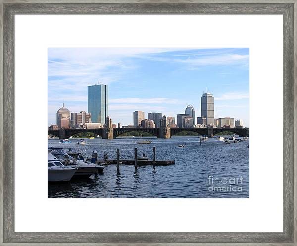 Boston Skyline Framed Print by Jason Clinkscales