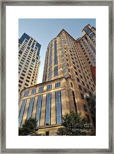 Boston Skyscrapers Framed Print