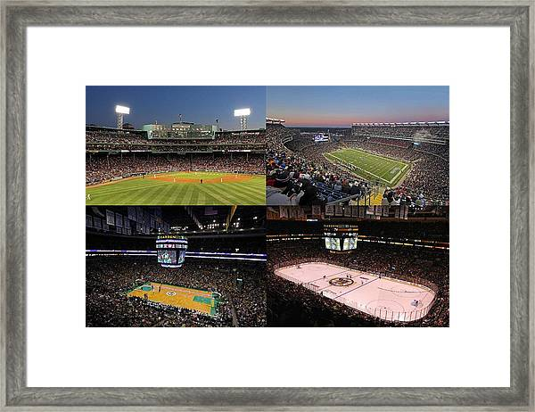 Boston Sport Teams And Fans Framed Print
